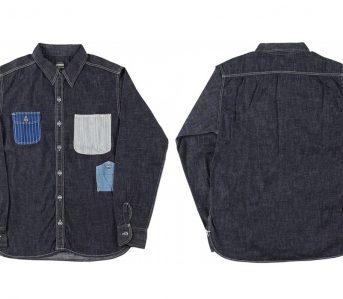 Momotaro-Multi-Pocket-Indigo-Denim-Shirt-front-back
