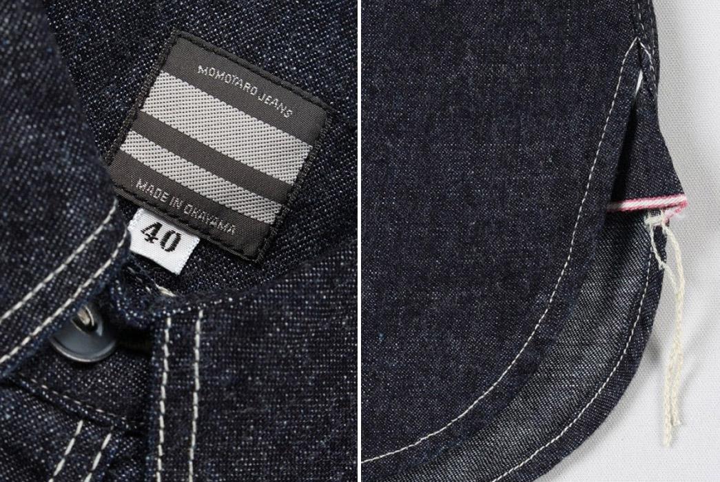 Momotaro-Multi-Pocket-Indigo-Denim-Shirt-label-and-selvedge