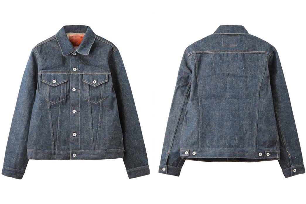 Oni-Denim-02527ZR-Type-III-Raw-Denim-Jacket-front-back