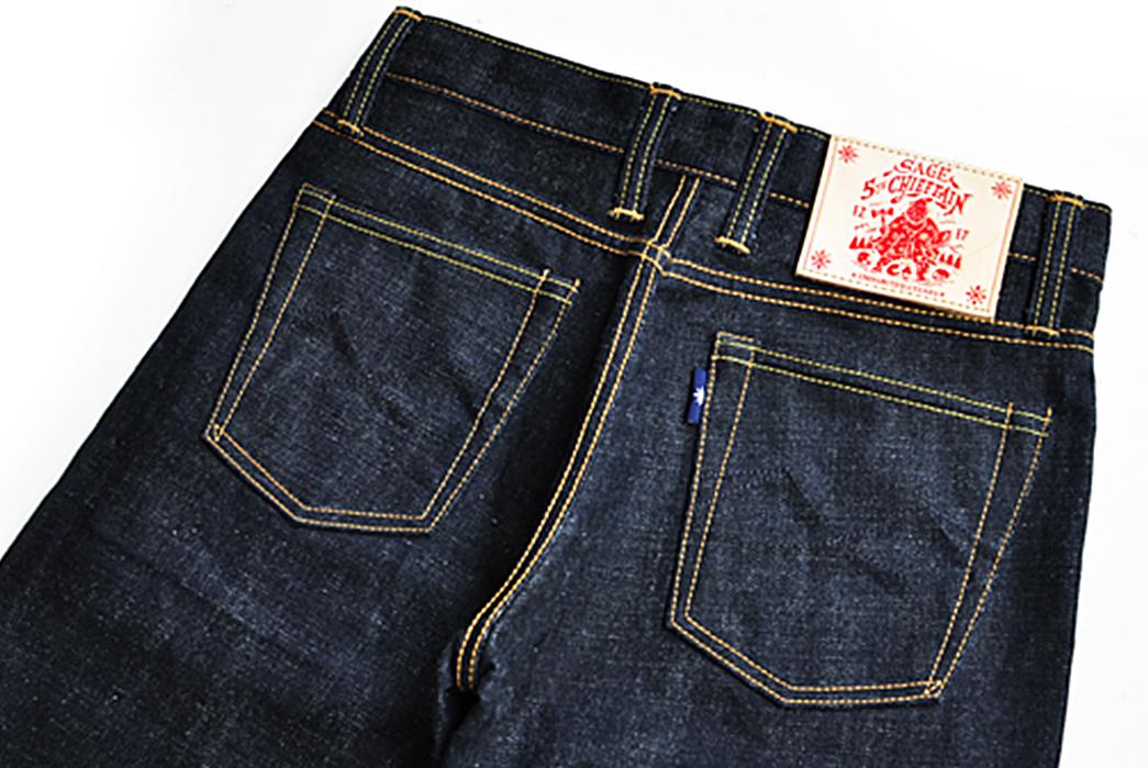 Sage-The-5th-Chieftain-19oz.-Unsanforized-Deep-Indigo-Jeans-back-top