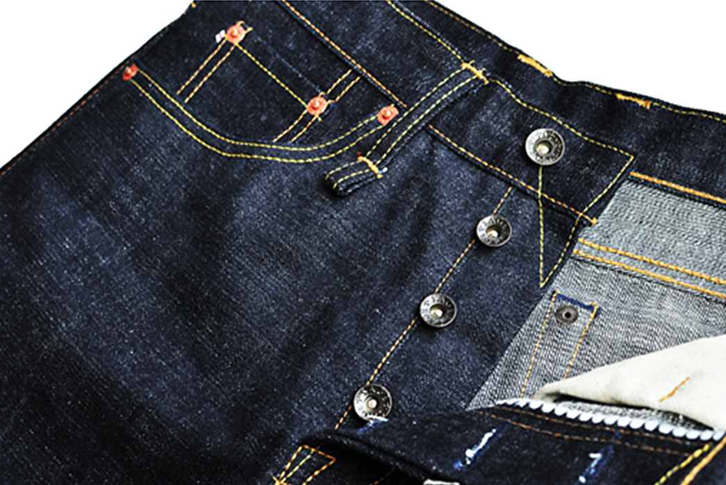 Sage-The-5th-Chieftain-19oz.-Unsanforized-Deep-Indigo-Jeans-front-top-angle