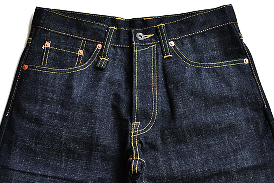 Sage-The-5th-Chieftain-19oz.-Unsanforized-Deep-Indigo-Jeans-front-top