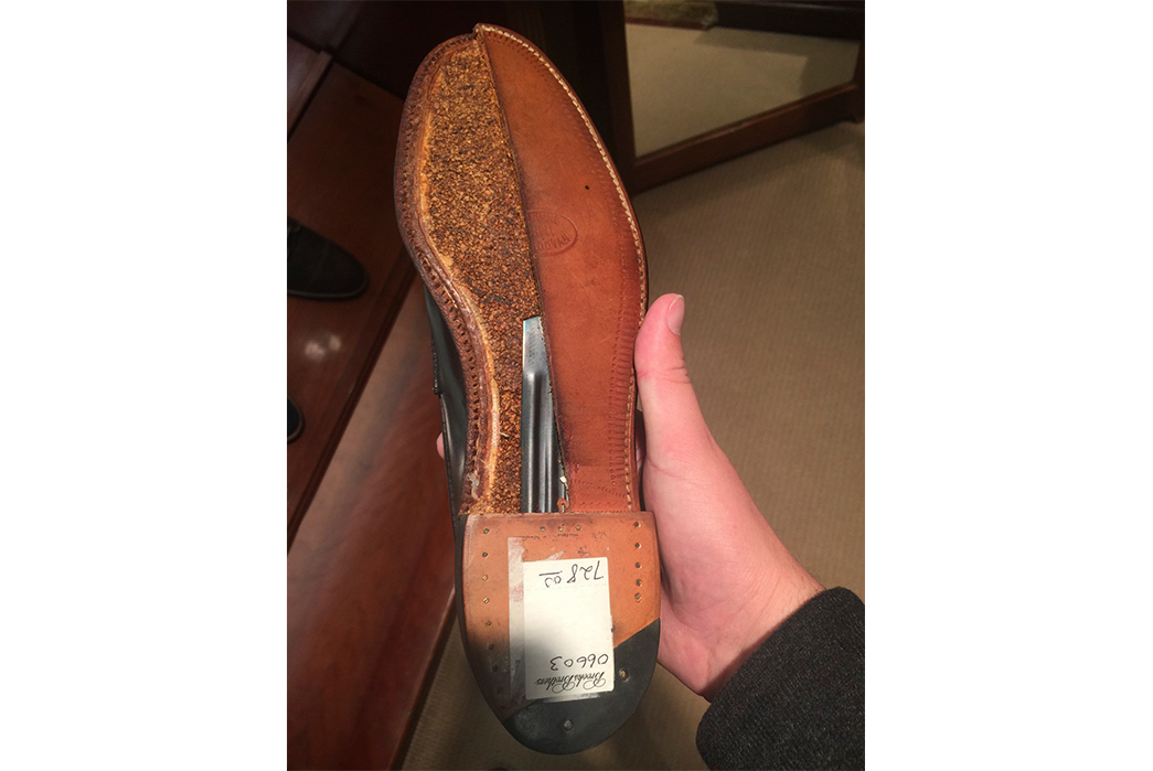 Shoe-Anatomy-101---Vamp,-Welt,-Quarter-and-More-Shank-inside-a-split-pair-of-Aldens.-Image-via-Alden-of-San-Diego