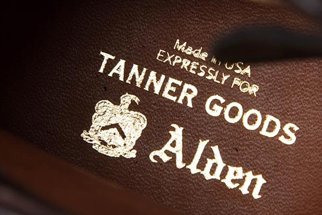 Tanner-Goods-and-Alden-Cap-Off-an-Exclusive-Alden-inside-label