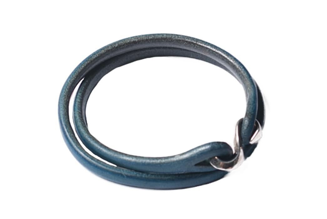 The-Flat-Head-Indigo-Dyed-Leather-&-Silver-Bracelet-3