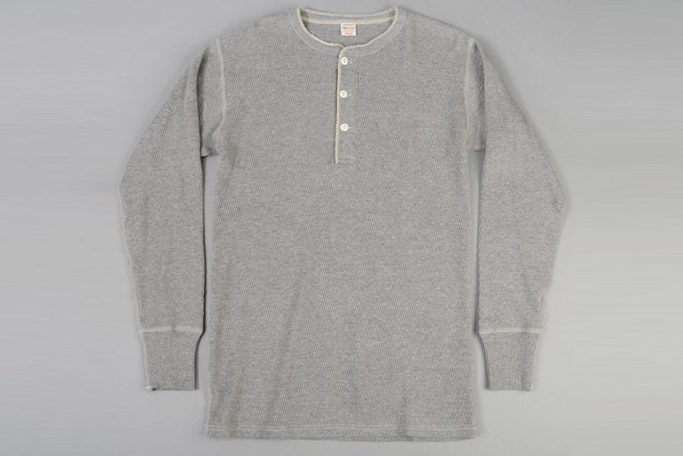 Warehouse-Henley-Waffle-Thermal-Shirt-front