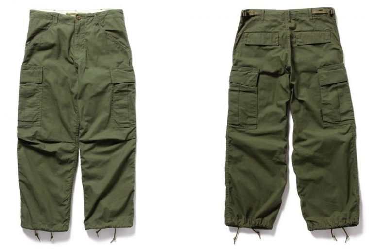 Beams-Plus-Ripstop-Military-6-Pocket-Trousers-front-back