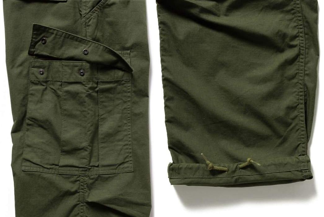 Beams-Plus-Ripstop-Military-6-Pocket-Trousers-leg-pucket-and-leg-selvedge