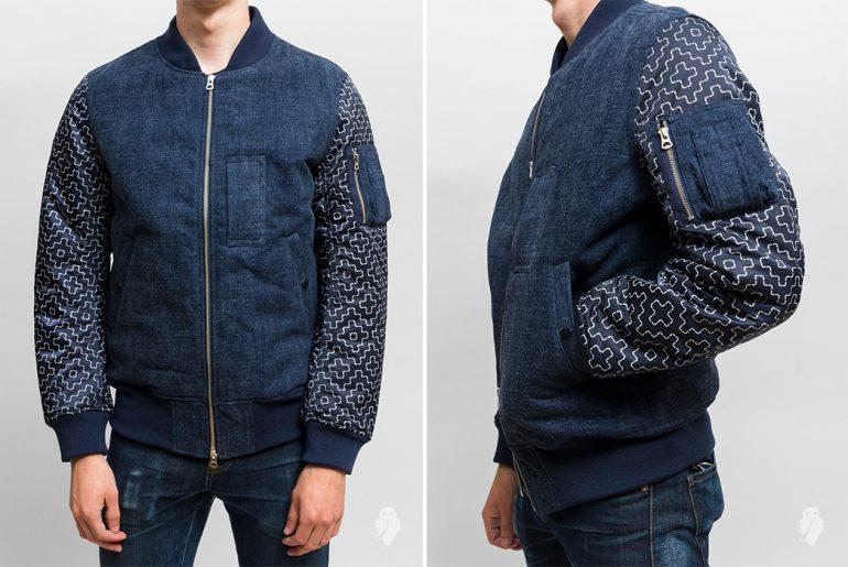 FDMTL's-Indigo-MA-1-Jacket-Uses-Reflective-Ink-model-front-side