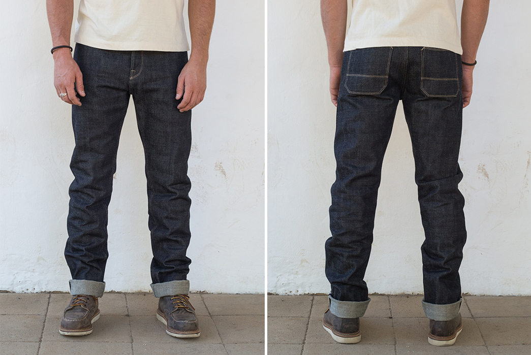 Freenote-Gets-Thick-With-Mildblend-for-Their-20oz.-Selvedge-Jeans-model-front-back