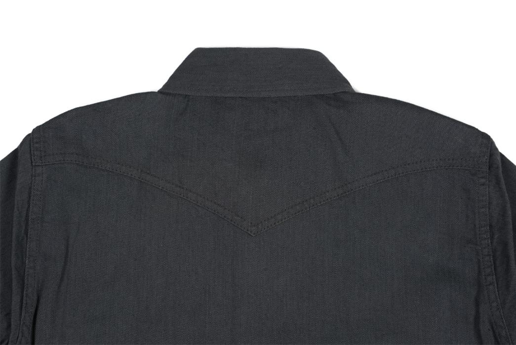 Iron-Heart-8.5oz.-Greycast-Sawtooth-Denim-Shirt-back-top-collar