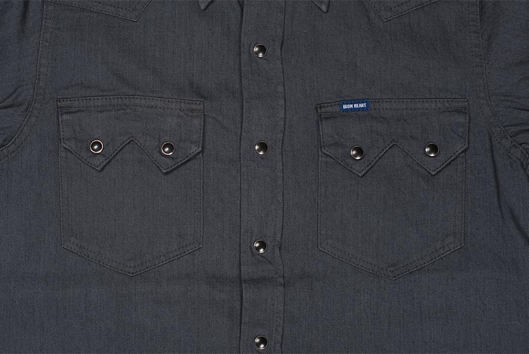 Iron-Heart-8.5oz.-Greycast-Sawtooth-Denim-Shirt-front-pockets