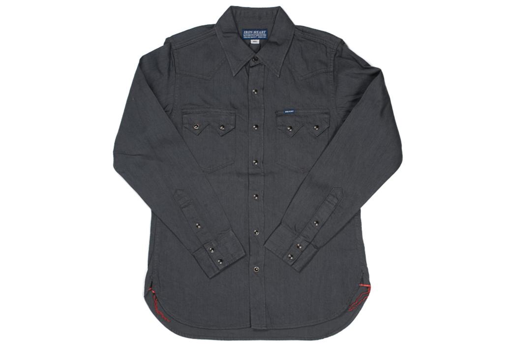 Iron-Heart-8.5oz.-Greycast-Sawtooth-Denim-Shirt-front