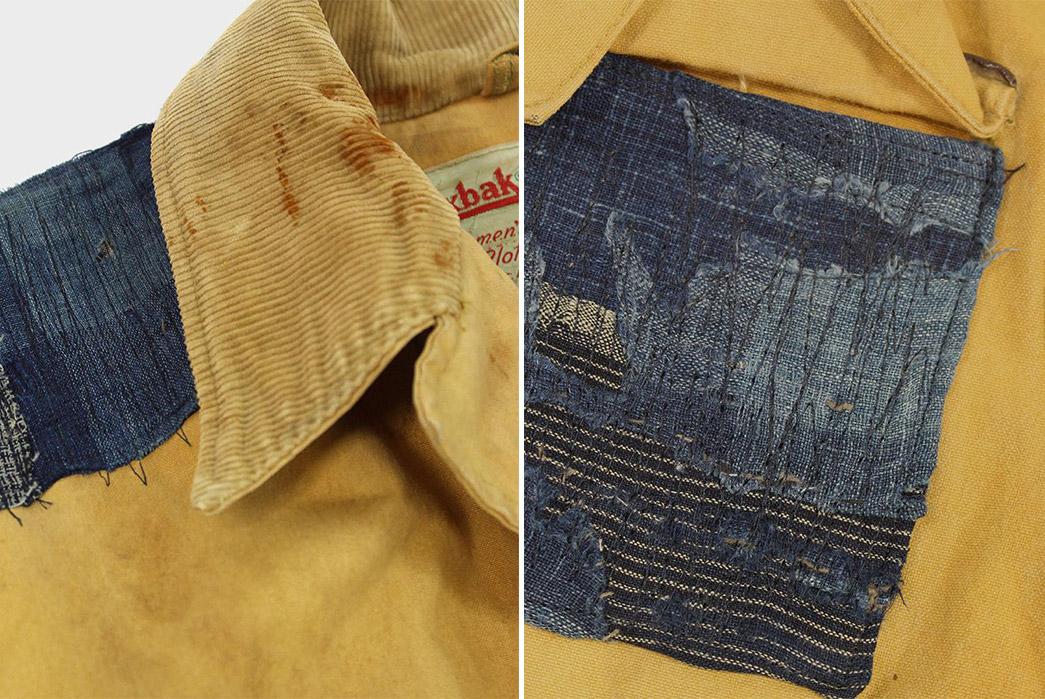 kiriko-patches-up-vintage-duxback-with-boro-fabric-collar