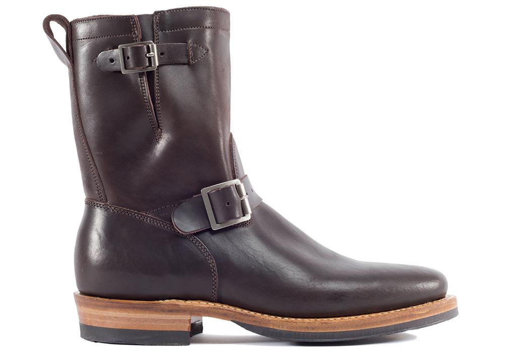 Viberg-Italian-Horsebutt-Engineer-Boots-brown-single-side