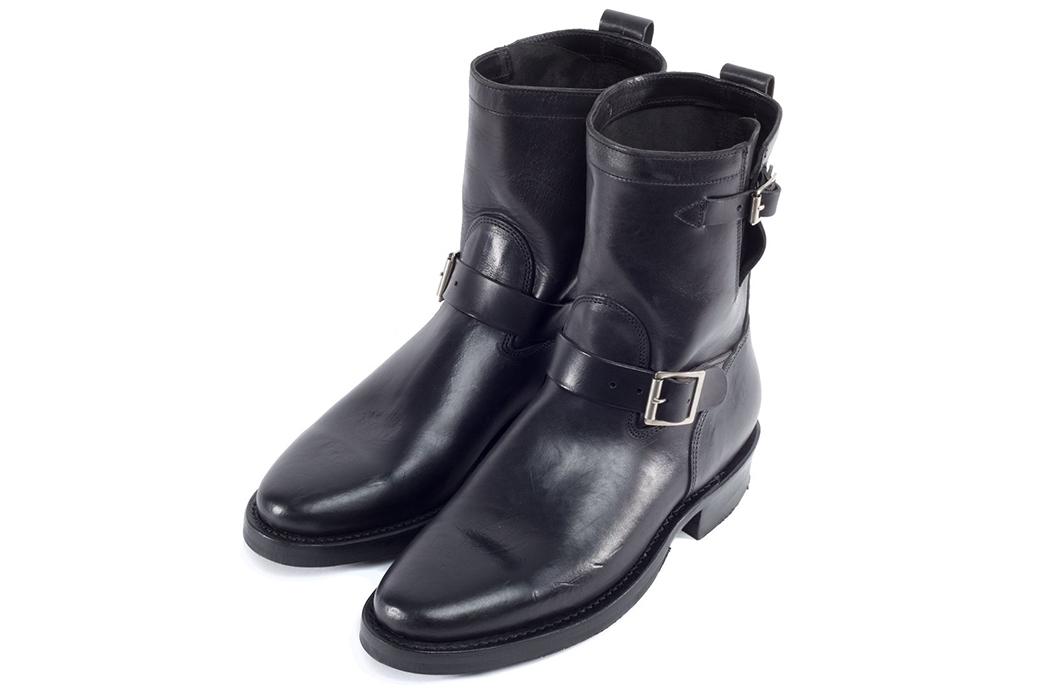 Viberg-Italian-Horsebutt-Engineer-Boots-black-pair-side-front-top