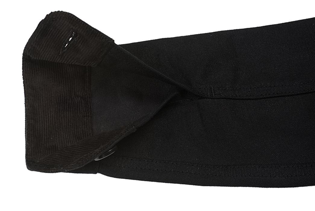 3sixteen-black-cotton-duck-hunting-jacket-sleeve