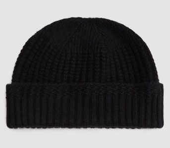 beams-plus-cashmere-mil-cap-black-front