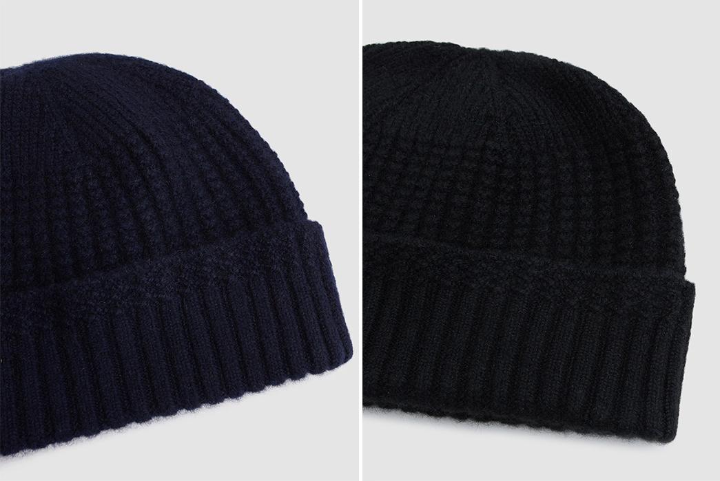 beams-plus-cashmere-mil-cap-blue-and-black-detailed