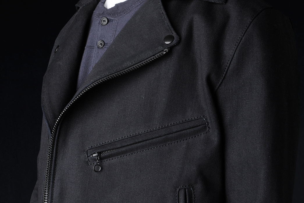 eidos-limited-edition-18oz-vanson-asymmetrical-moto-jacket-model-front-detailed