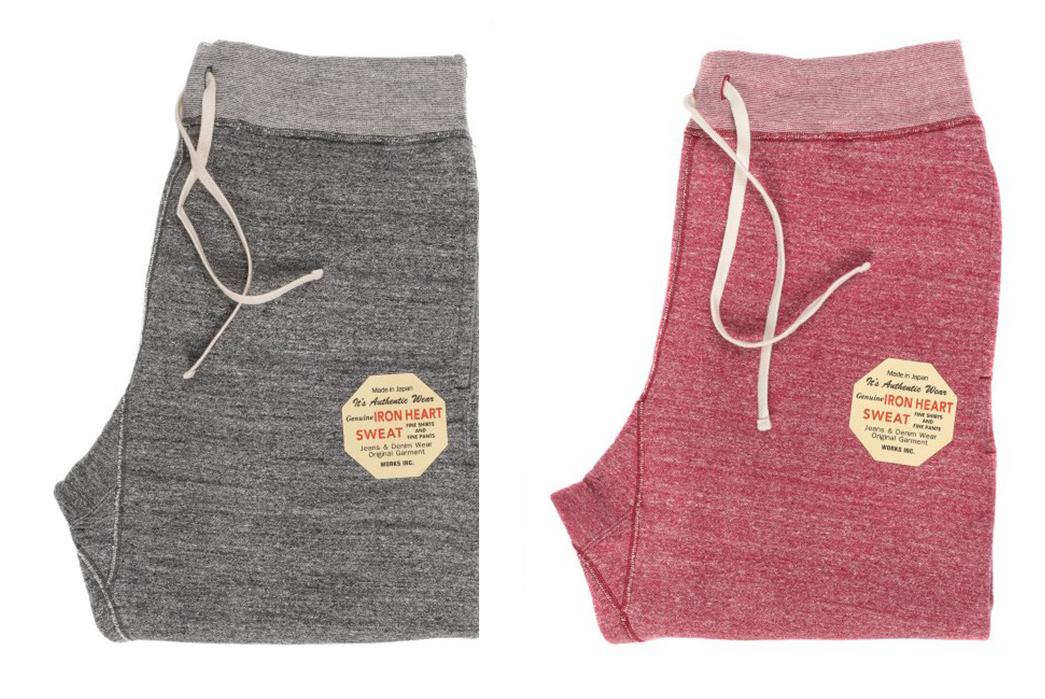 iron-heart-heavy-loopwheel-sweatpants-folded-grey-and-rose