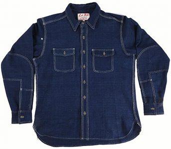 left-field-khadi-hand-loomed-natural-indigo-slub-dust-bowl-work-shirt-front