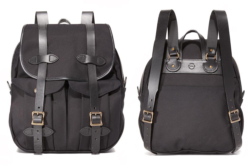 3-filson-rucksack-in-black-front-back
