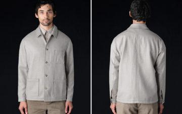 de-bonne-facture-revives-1960s-deadstock-fabric-for-their-work-jacket-model-front-back