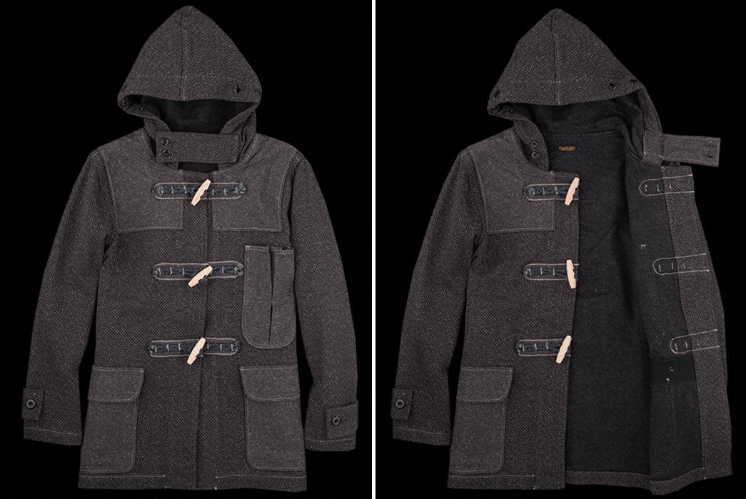 duffle-coats-five-plus-one-1-kapital-kendo-canvas-duffle-short-coat-in-charcoal
