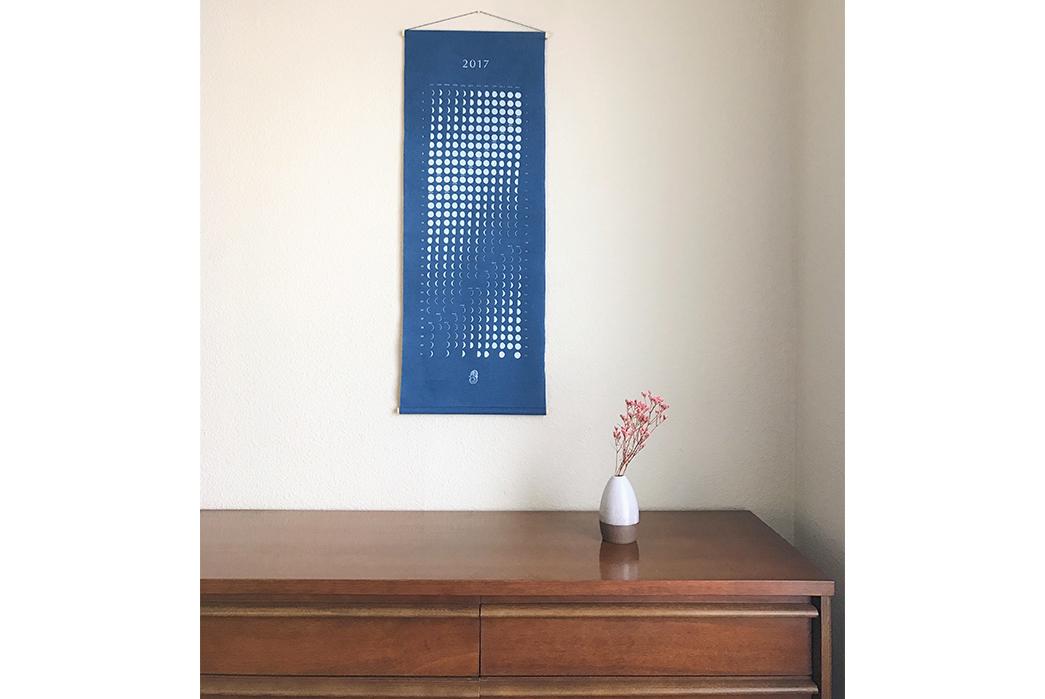indigo-dyed-2018-moon-calendar-front-hanged-on-wall-2
