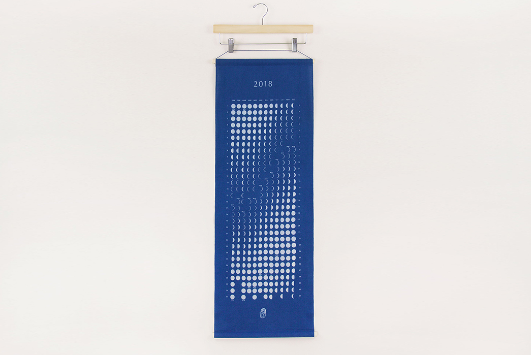 indigo-dyed-2018-moon-calendar-front-hanged-on-wall