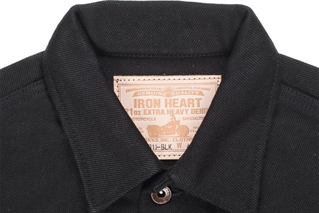 iron-heart-superblack-riffblaster-general-ih-101j-blk-jacket-front-collar-and-label