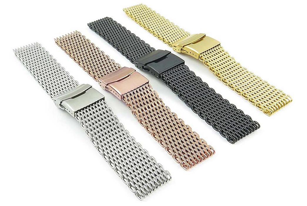 metal-watch-bracelets-five-plus-one 1) StrapsCo: Shark Mesh