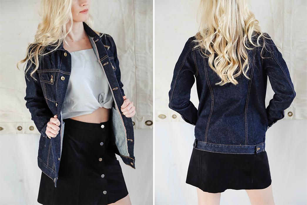 tradlands-13oz-selvedge-denim-jacket-is-fit-for-the-ladies-model-front-back