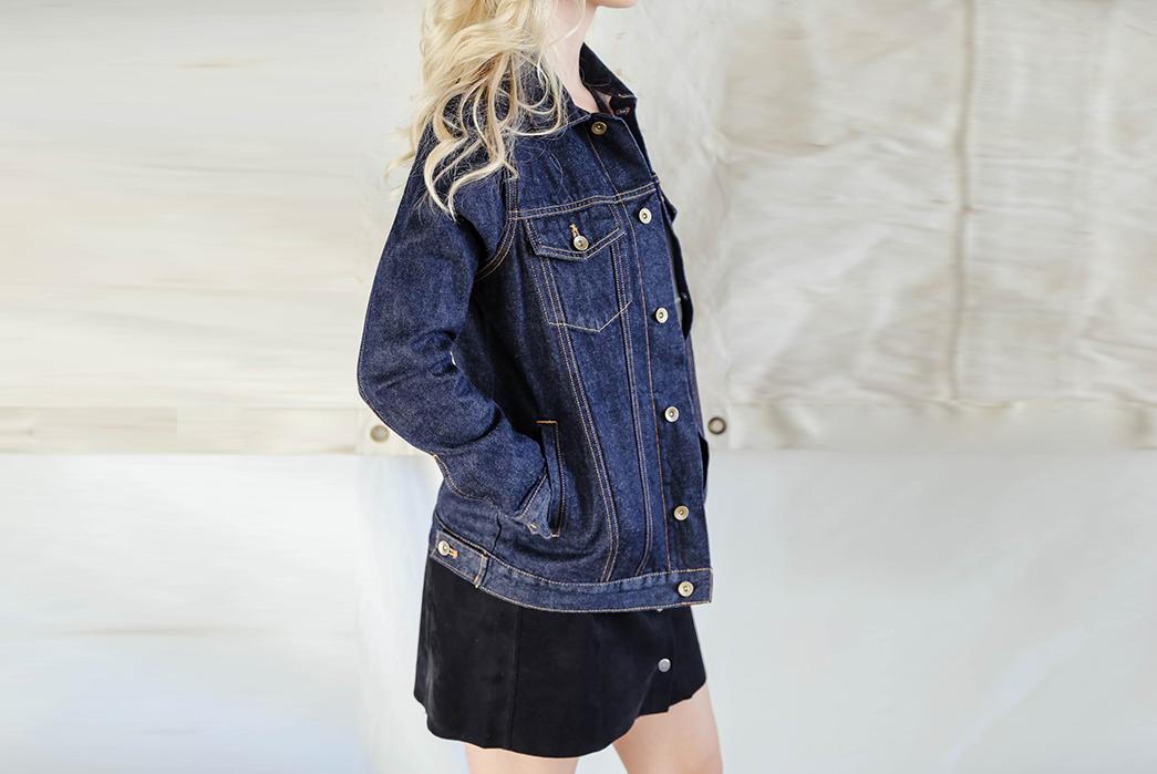 tradlands-13oz-selvedge-denim-jacket-is-fit-for-the-ladies-model-side