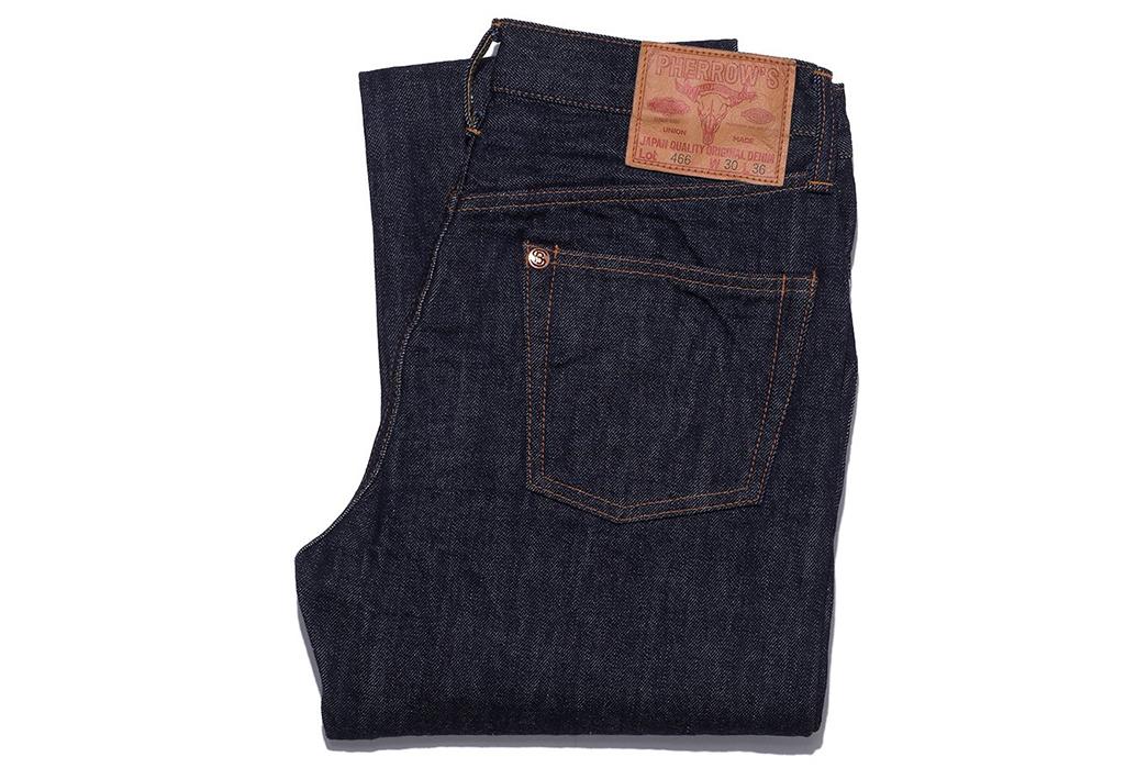 pherrows-lot-466sw-slim-straight-jeans-folded