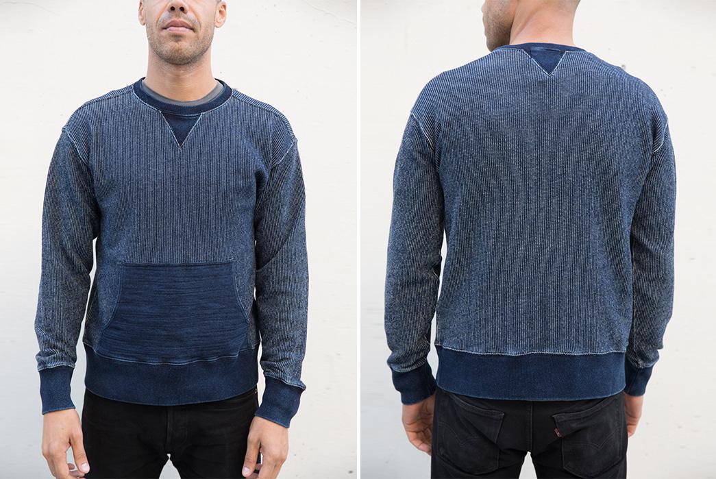 rrls-indigo-crewneck-sweatshirt-adds-kangaroo-sensibility-model-front-back