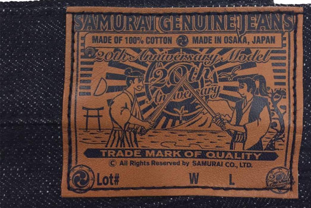 samurai-celebrates-double-decades-of-denim-back-leather-patch