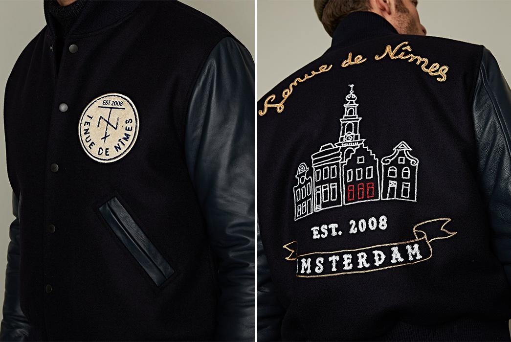 tenue-de-nimes-celebrates-nine-yars-with-an-indigo-lambskin-varsity-jacket-model-front-back-detailed