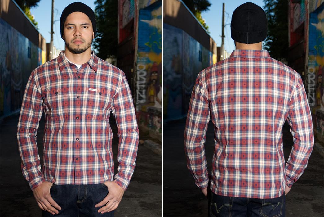 the-flat-head-amnesia-haze-native-check-shirt-model-front-back