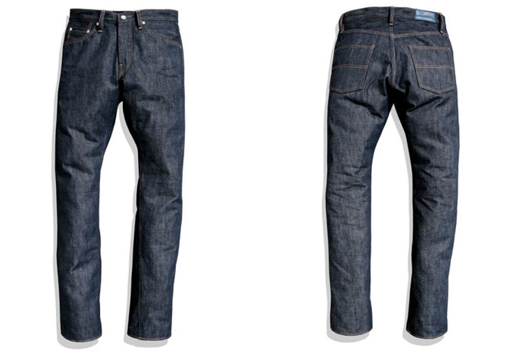Big-John-Rare-R008-Raw-Denim-Jeans-front-back