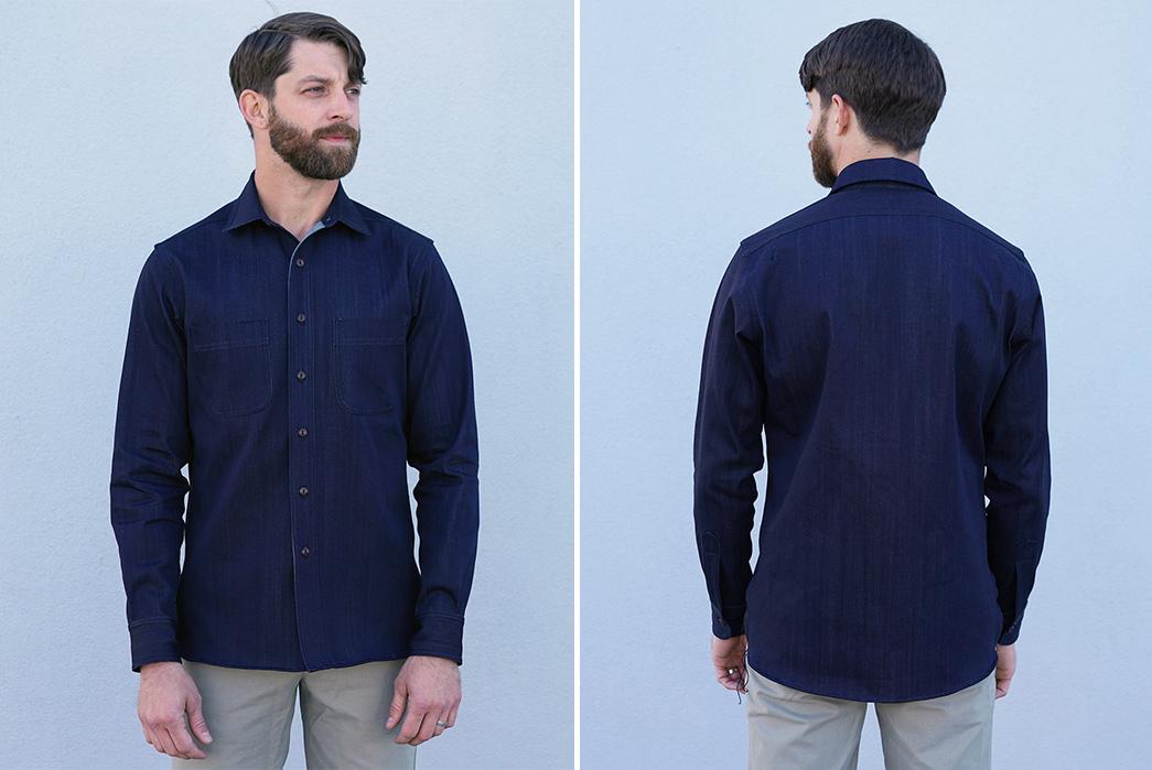 epaulets-9oz-kuroki-denim-chainstitch-shirt-is-primed-for-roping-model-front-back