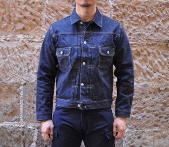 samurai-15oz-type-ii-denim-jacket-model-front