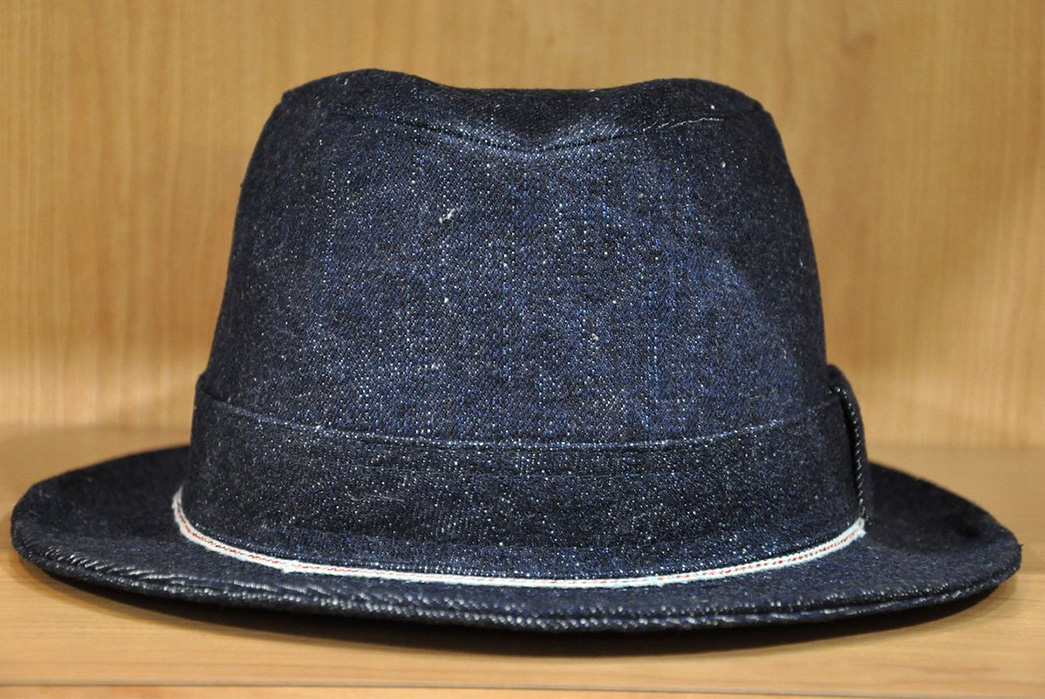 samurai-goes-fade-sinatra-with-their-17oz-selvedge-denim-trilby-front