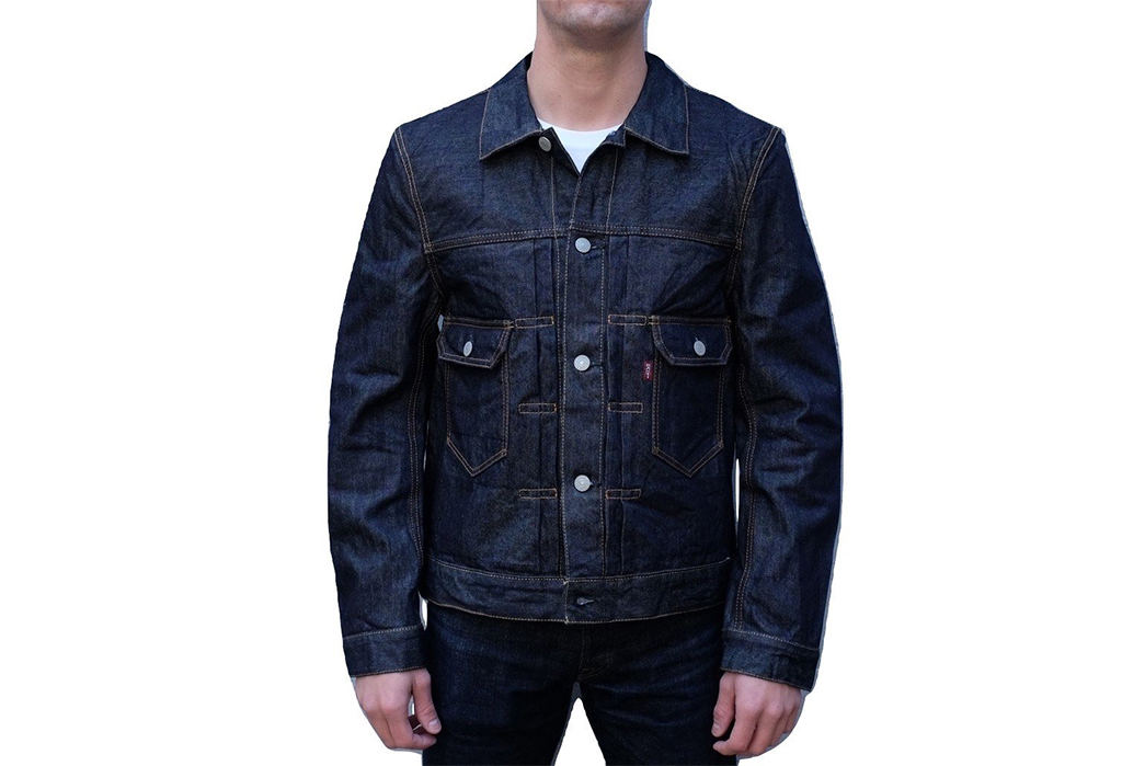 studio-dartisan-uses-three-twills-for-one-denim-jacket-model-front