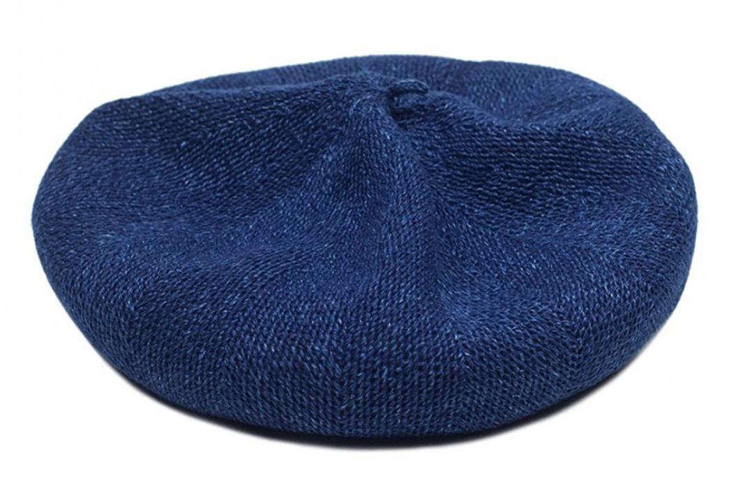 blue-blue-japan-indigo-dyed-linen-beret-front-top