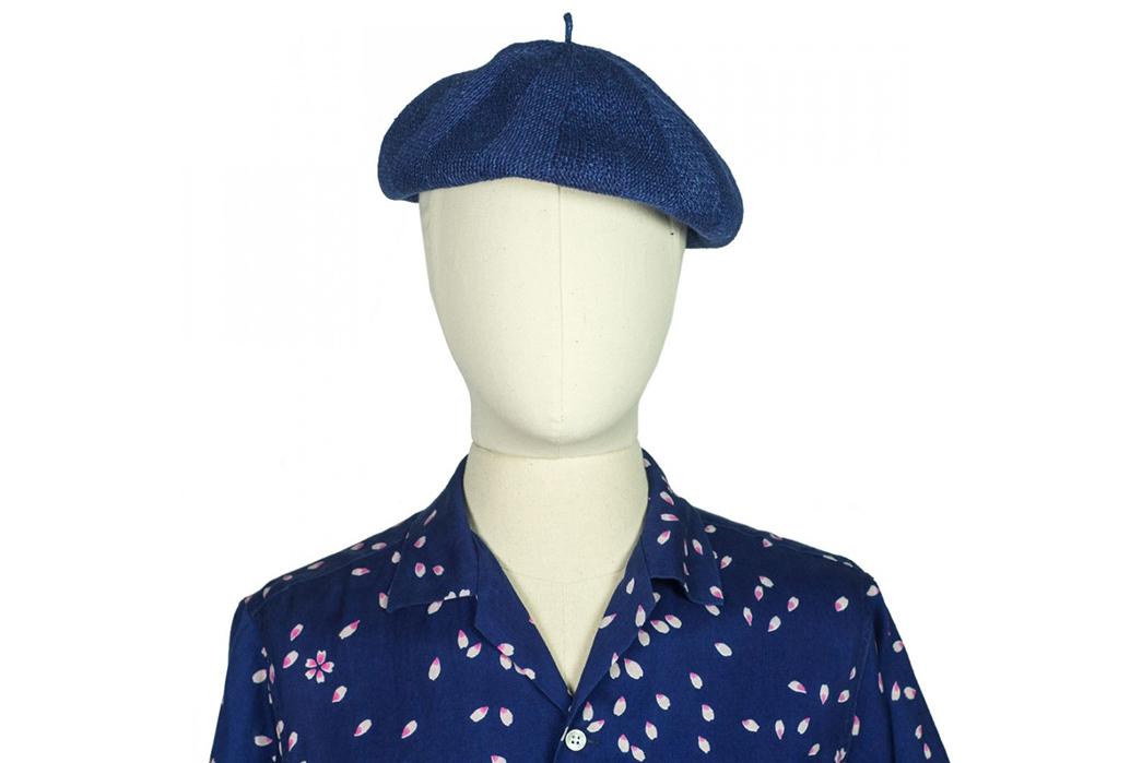 blue-blue-japan-indigo-dyed-linen-beret-on-mannequin