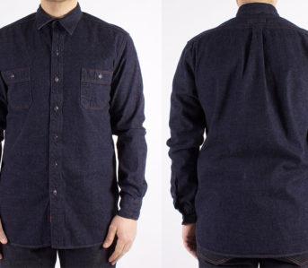 dickies-1922-7-5oz-washed-japanese-selvedge-denim-work-shirt-model-front-back