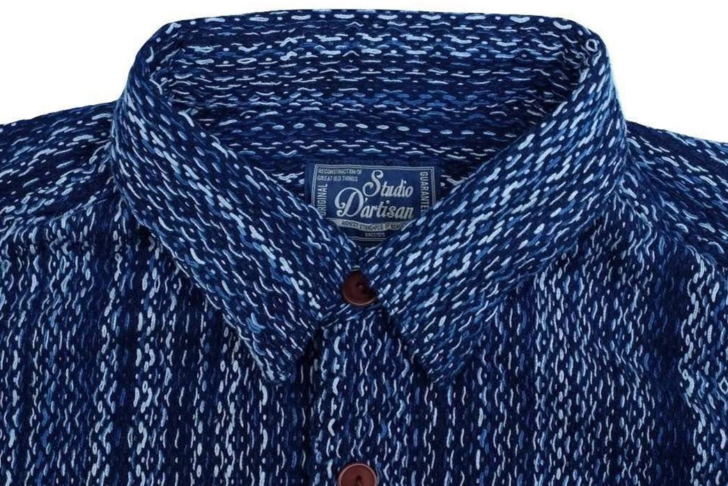 studio-dartisan-kasezome-natural-insigo-sashiko-work-shirt-front-top-collar