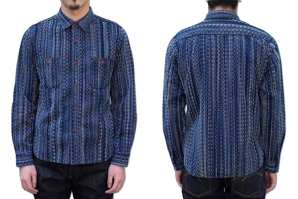 studio-dartisan-kasezome-natural-insigo-sashiko-work-shirt-model-front-back